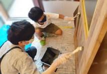 クラフトレーベルの塗装チャレンジ