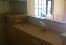 三重県 菰野町U様邸 システムキッチン・カップボード・飾り棚工事