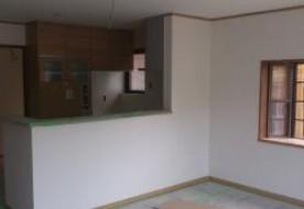 三重県 菰野町U様邸 LDKクロス工事完了しました