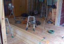 三重県菰野町U様邸 天井断熱材入れ、下地貼り工事