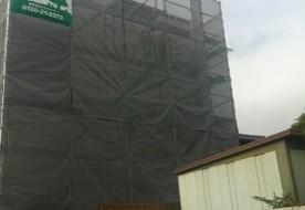 三重県津市Y様邸 外壁工事 防水シート貼り工事
