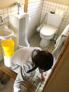現場調査 トイレ 寸法計測