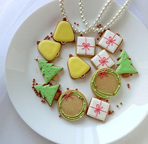 年末年始 休業 お知らせ クリスマス クッキー